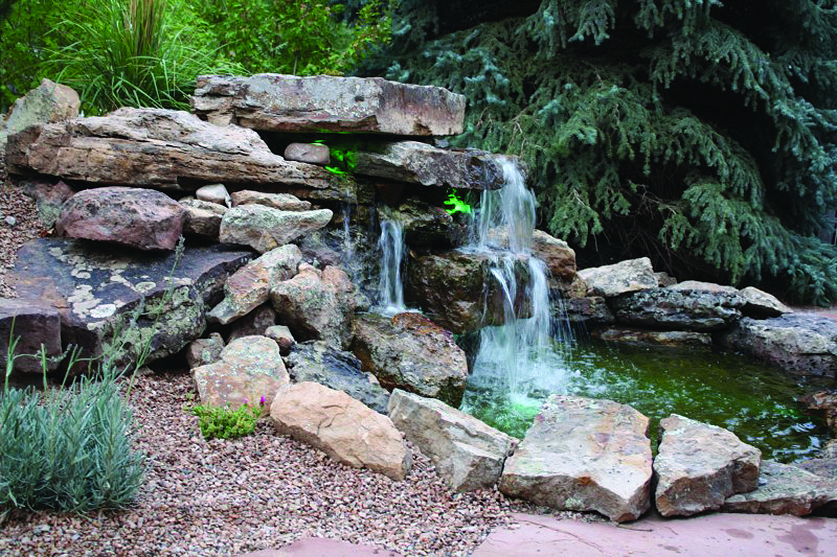 Building a waterfall in your yard roaring fork lifestyle for Build a simple backyard waterfall