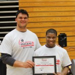Special Olympics Athletes Get Visit from Matthews 3