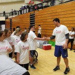 Special Olympics Athletes Get Visit from Matthews 2