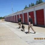 K-9 Unit Training at Chesterfield's Storage Masters 7