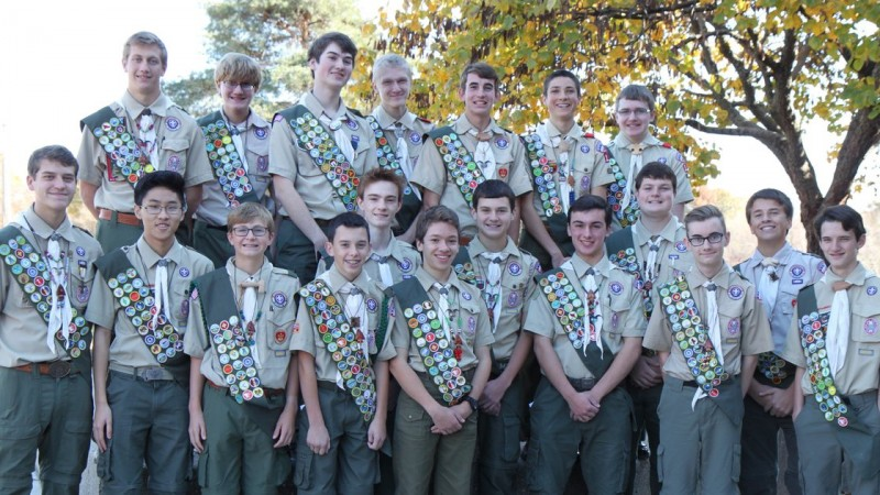 Leawood Troop Recognizes 19 New Eagle Scouts