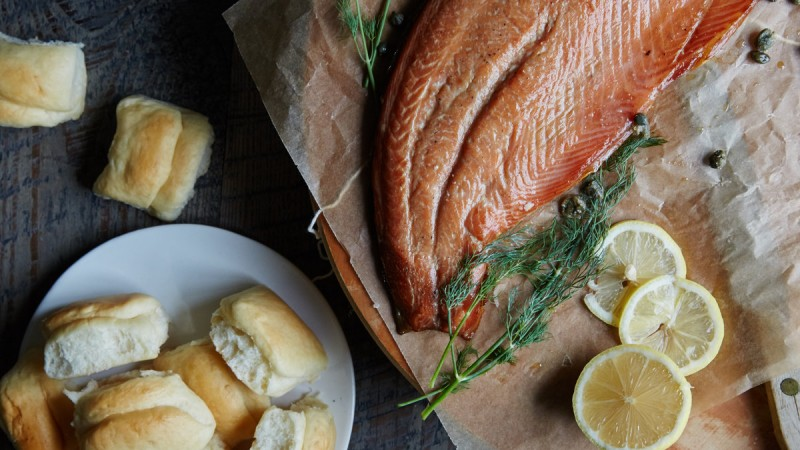 Dancin' Salmon Delights Georgians, One Forkful at a Time 1