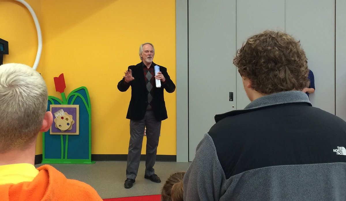 Norman West library debuts interactive play wall for children