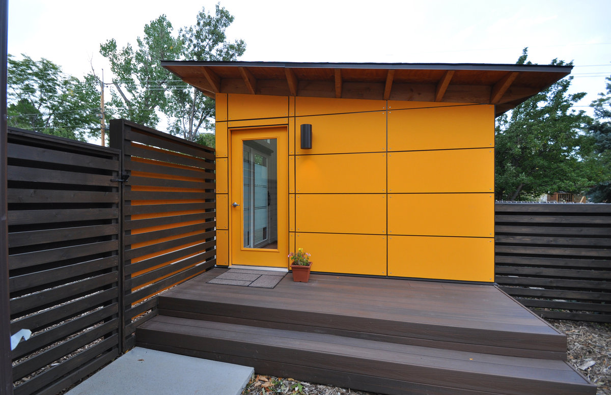 Small spaces boulder lifestyle magazine for Small modern shed