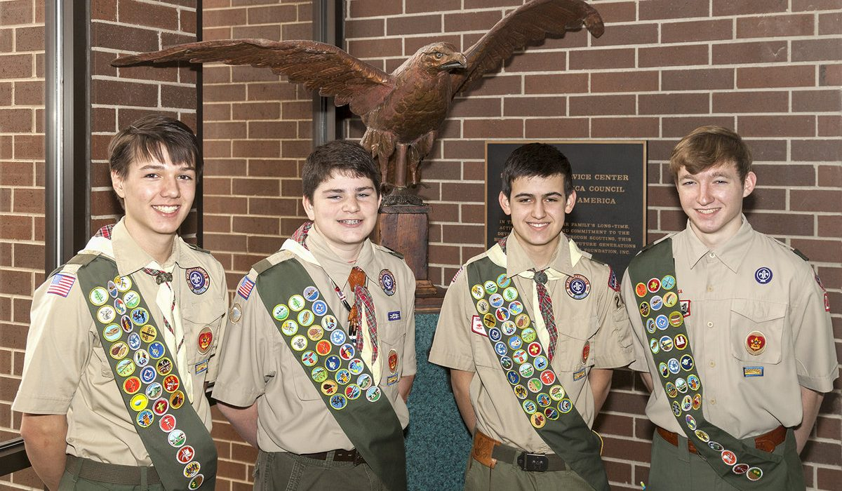 Troop 282 Honors Four New Eagle Scouts
