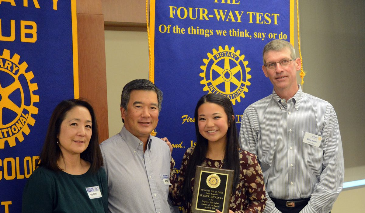 Students Recognized by the Rotary Club of Parker 4