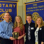 Students Recognized by the Rotary Club of Parker