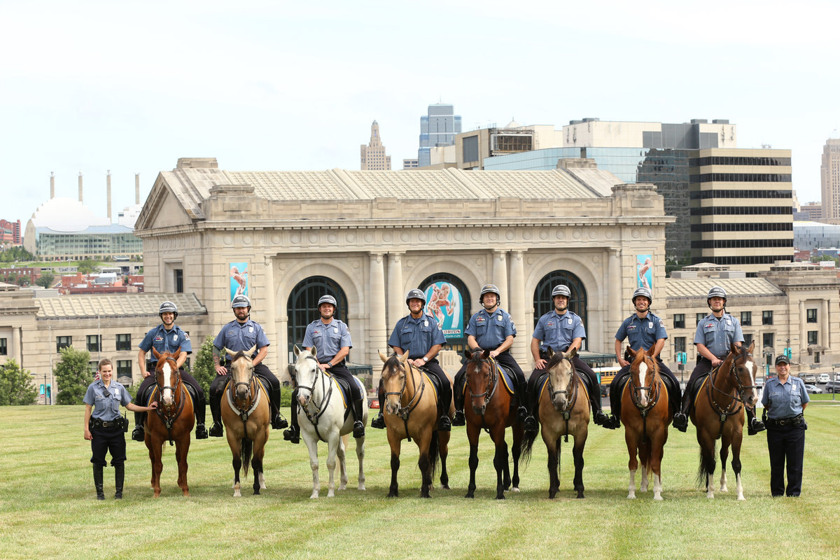 KC Police Department Mounted Patrol Rides Tall 13