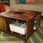 DIY Wooden Wine Crate Coffee Table 1