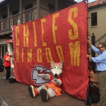 Chief's Flag Hanging on The Plaza 3