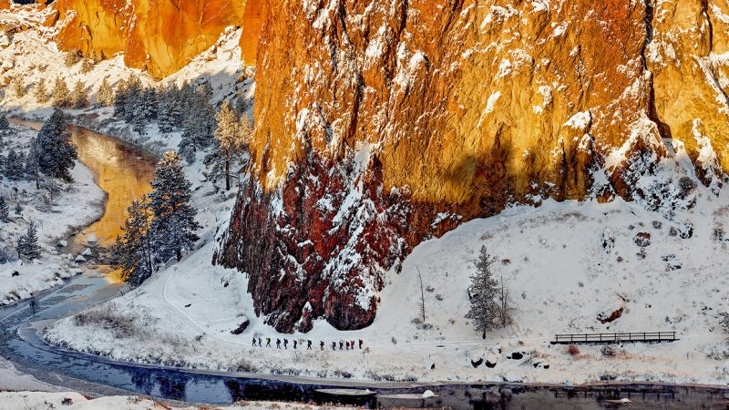 Red Rock and Snow 1