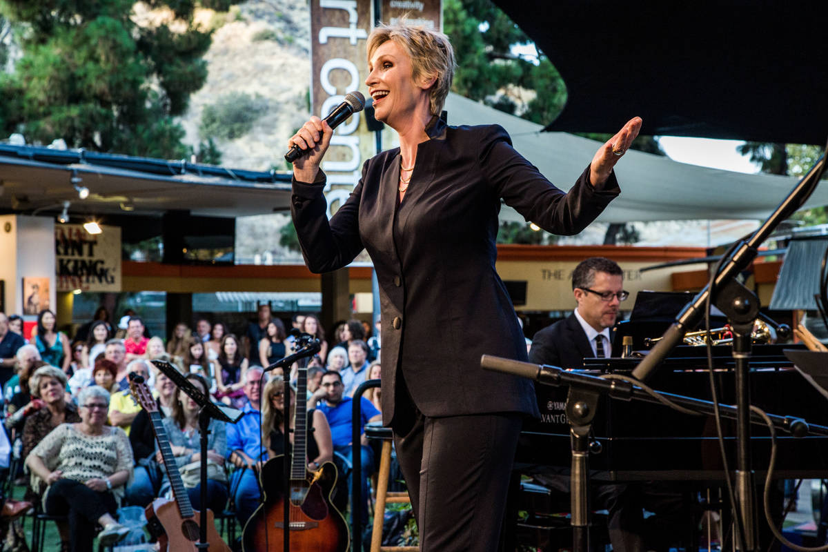 Jane Lynch Hosts and Performs at Pageant