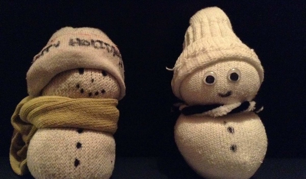Easy DIY Sock Snowman 8