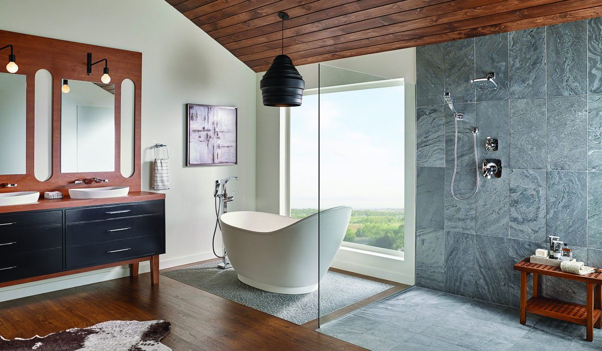 Natural Stone in the Shower 1