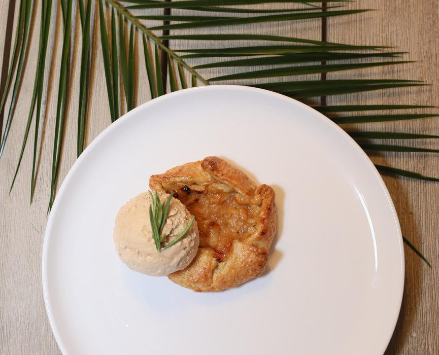 Apple Tart Topped with Salted Caramel Ice-Cream