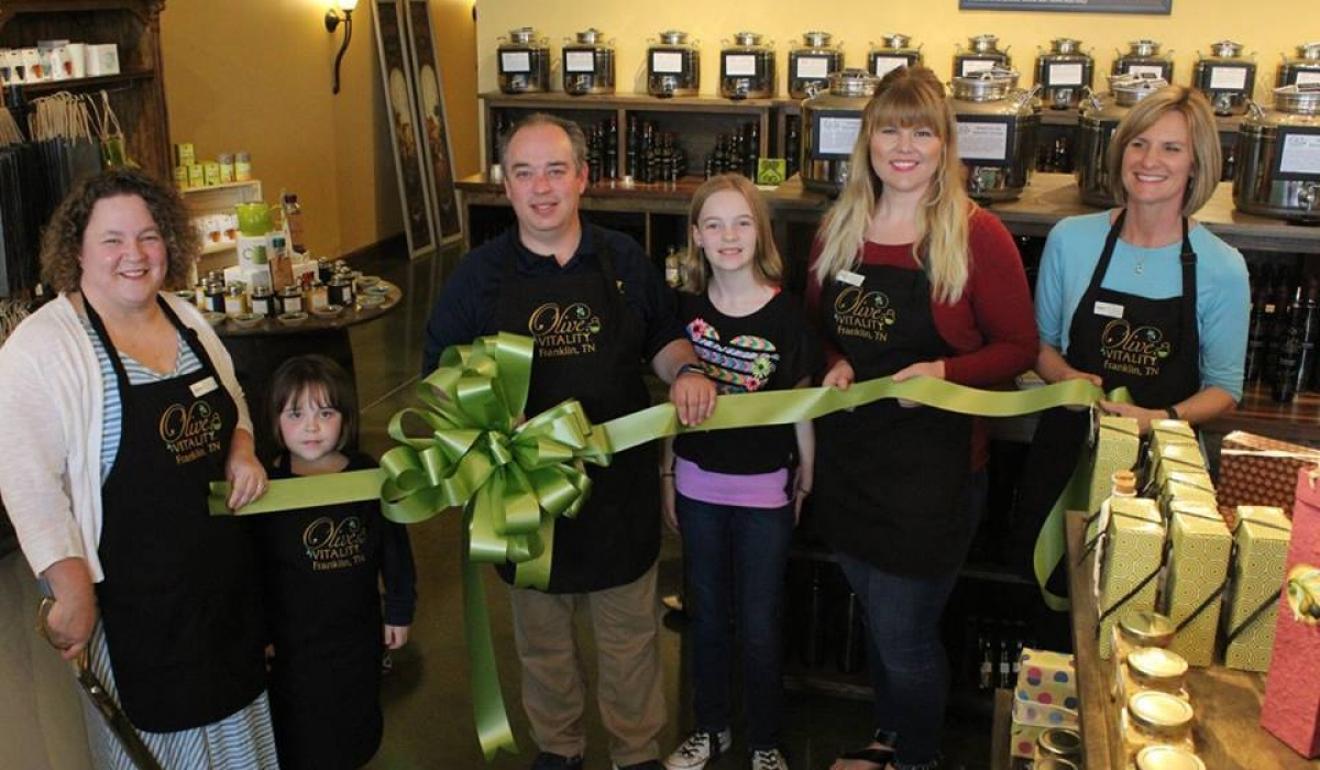 Olive Vitality Ribbon Cutting 5