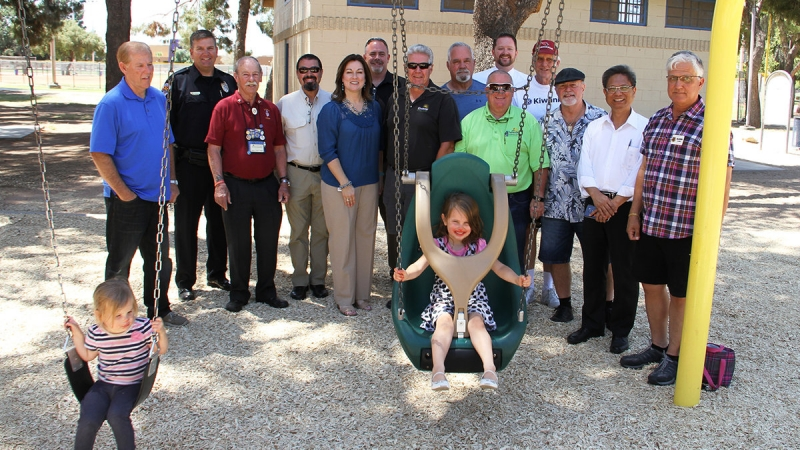 Chandler Kiwanis Club Donates Accessible Swings 2