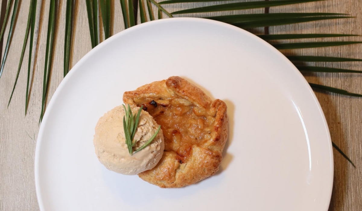 Apple Tart Topped with 