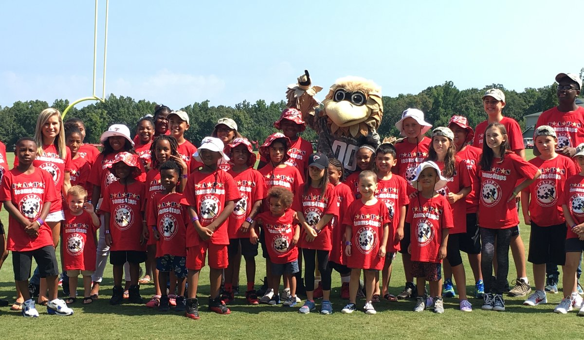 Atlanta Falcons Invite TAPS Kids and Families for a VIP Experience at Military Appreciation Day at Training Camp in Flowery Branch 18