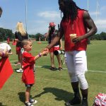 Atlanta Falcons Invite TAPS Kids and Families for a VIP Experience at Military Appreciation Day at Training Camp in Flowery Branch 7