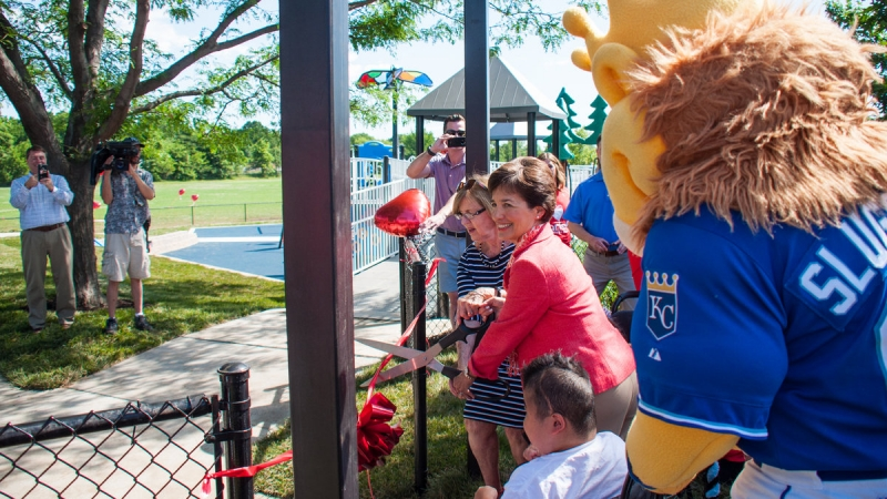 Leawood Parks & Recreation Opens First All-Inclusive Playground