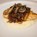 Pan-Seared Chicken with Caramelized Onions and Sautéed Mushrooms over Mashed Cauliflower 12