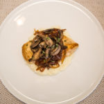 Pan-Seared Chicken with Caramelized Onions and Sautéed Mushrooms over Mashed Cauliflower 14