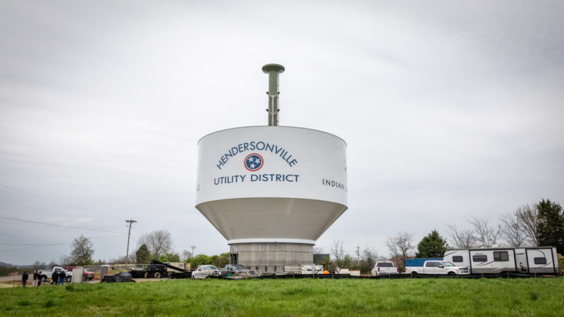Hendersonville Utility District Water Tower Tank Raising 1
