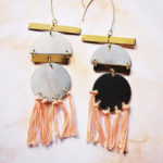 DIY Duotone Statement Earrings 2
