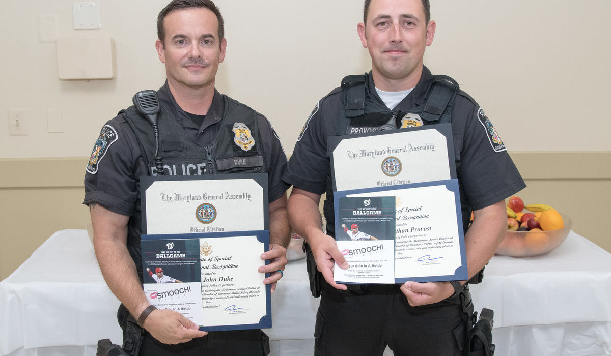 Gaithersburg Chamber of Commerce Police Officer Awards 6