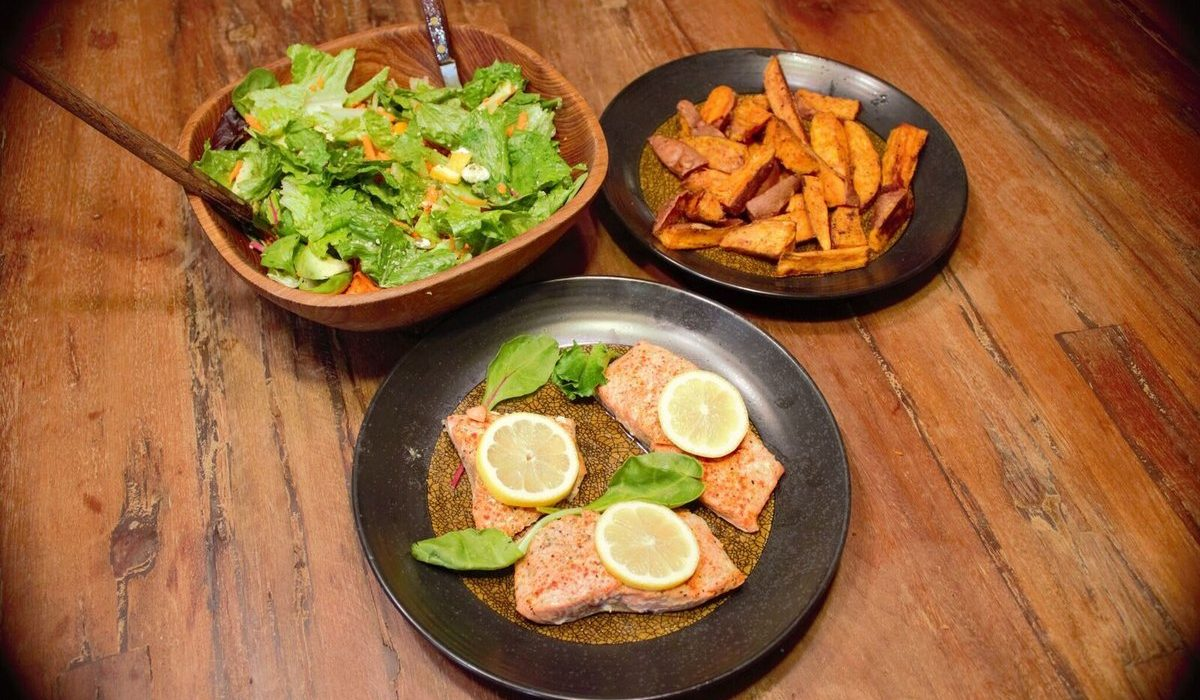 Roasted Ginger Salmon with Loaded Green Salad 2