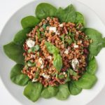 Goat Cheese, Spinach and Pecan Farro Salad 3