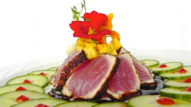Seared Ahi Tuna with Mango Salsa 6
