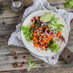 Sweet Potato Tacos with Red Cabbage Slaw