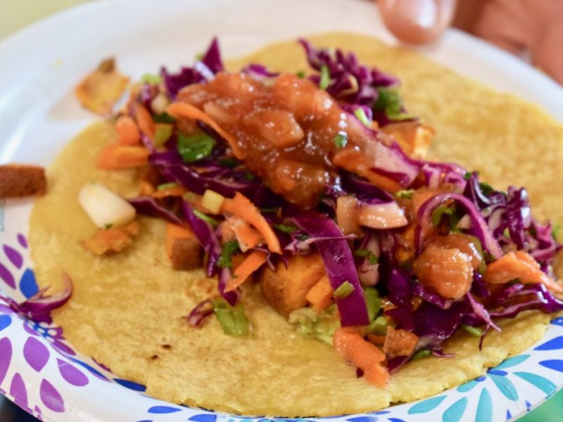 Sweet Potato Tacos with Red Cabbage Slaw 2