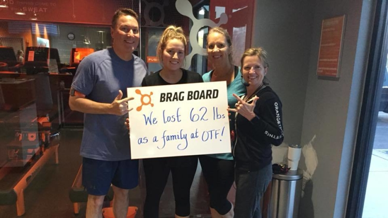 Orange Theory Fitness Brag Board 2